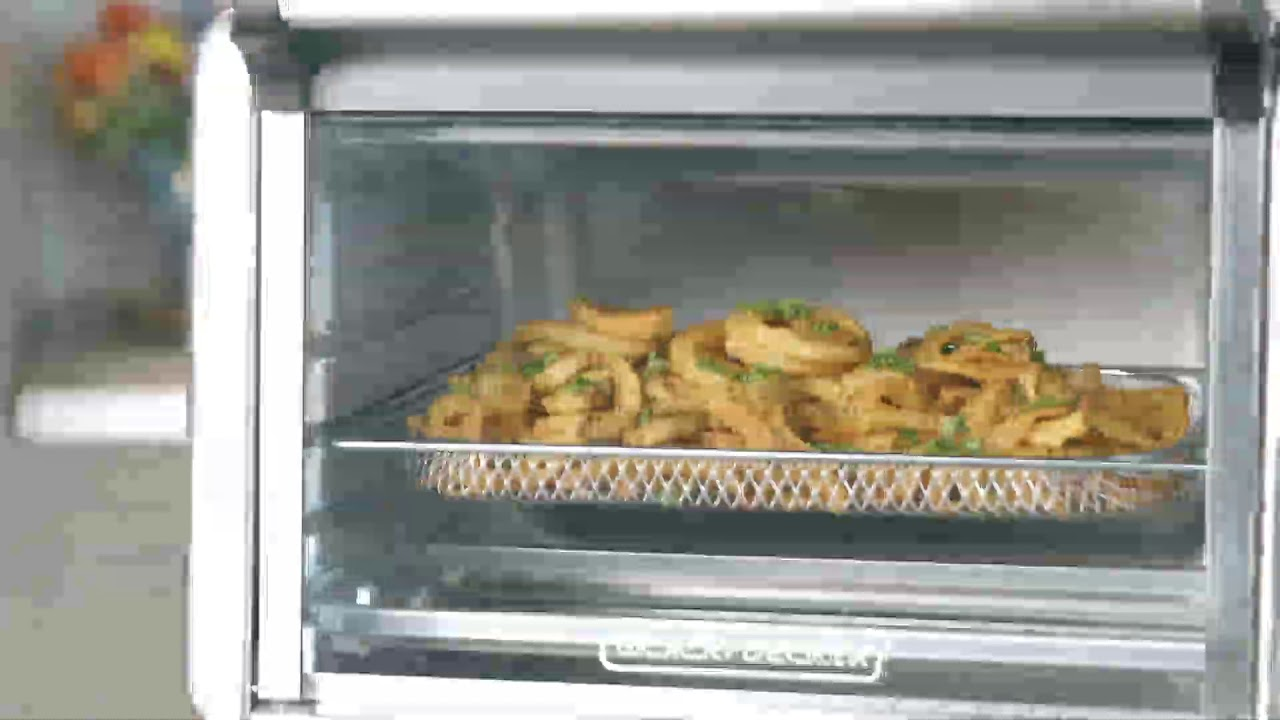 Black Decker Air Fryer Toaster Oven Youtube