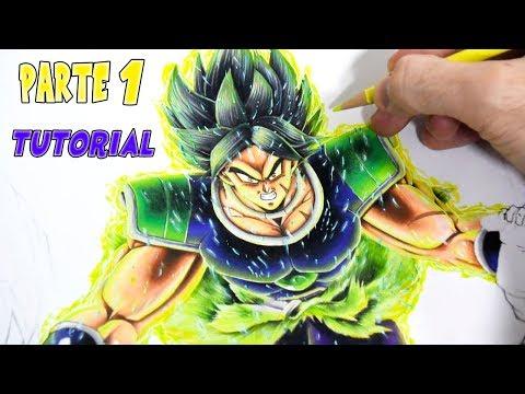 Como Dibujar a Goku y Vegeta SSG VS Broly   PARTE 1   Dragon Ball Super