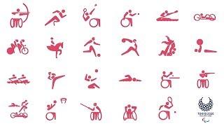 東京2020パラリンピックスポーツピクトグラム