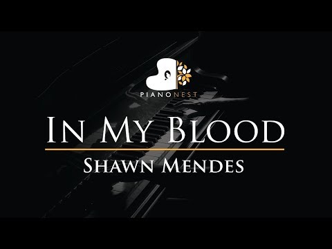 Shawn Mendes - In My Blood - Piano Karaoke  Sing Along  Cover with