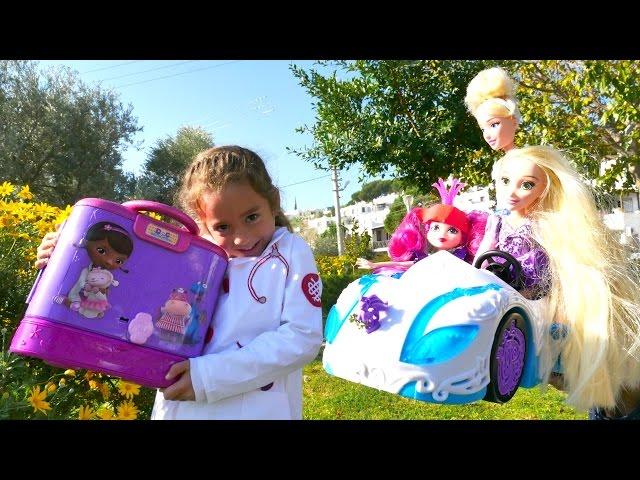#Kızoyunları. Doktor kaza yapan Şeker Prensese yardım ediyor. Full #Türkçeizle! Kız oyuncakları