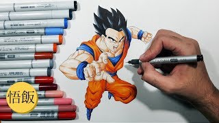How To Draw Mystic/Ultimate Gohan - Step by Step Tutorial!