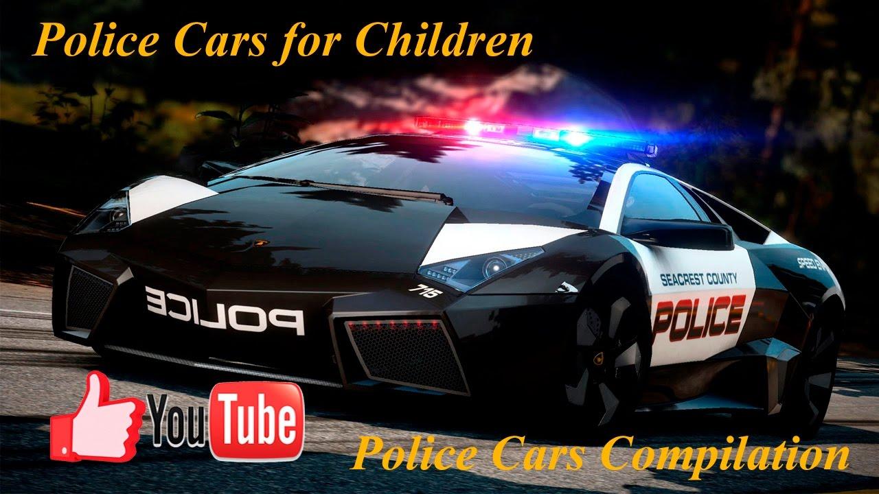 police cars for children police vehicles videos for kids lamborghini porsche ford dodge