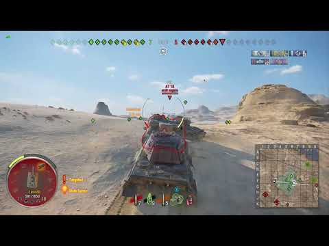 World of Tanks Xbox one King Tiger 3 Kills (El Alamein Map)