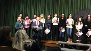 I.S.93 Awarding of Principal's Honor Roll