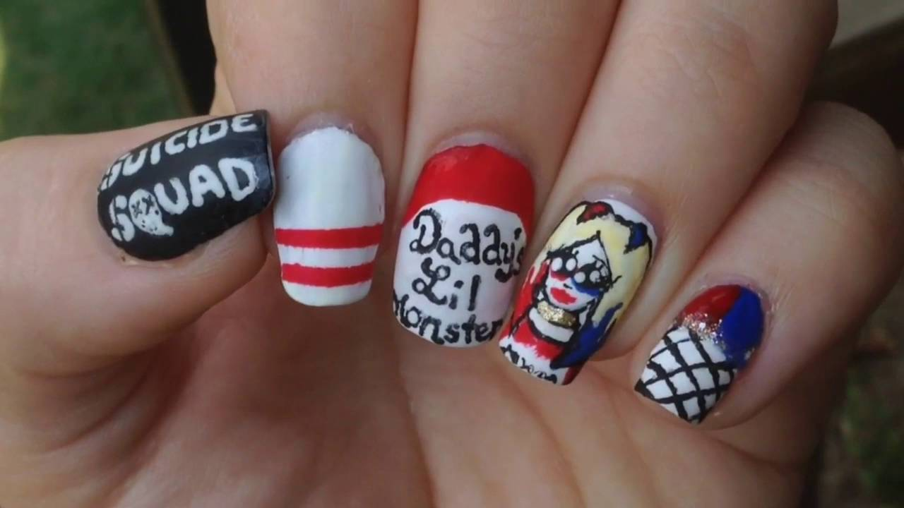 Suicide Squad Nails Harley Quinn 2 Youtube