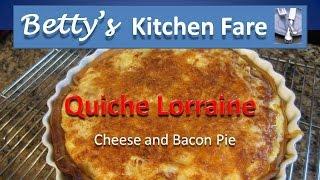 Quiche Lorraine From Betty's Kitchen