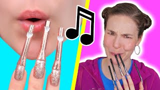 Turning My Nails Into a Flute (Nail Hacks)