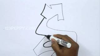How to Draw Graffiti Letter S