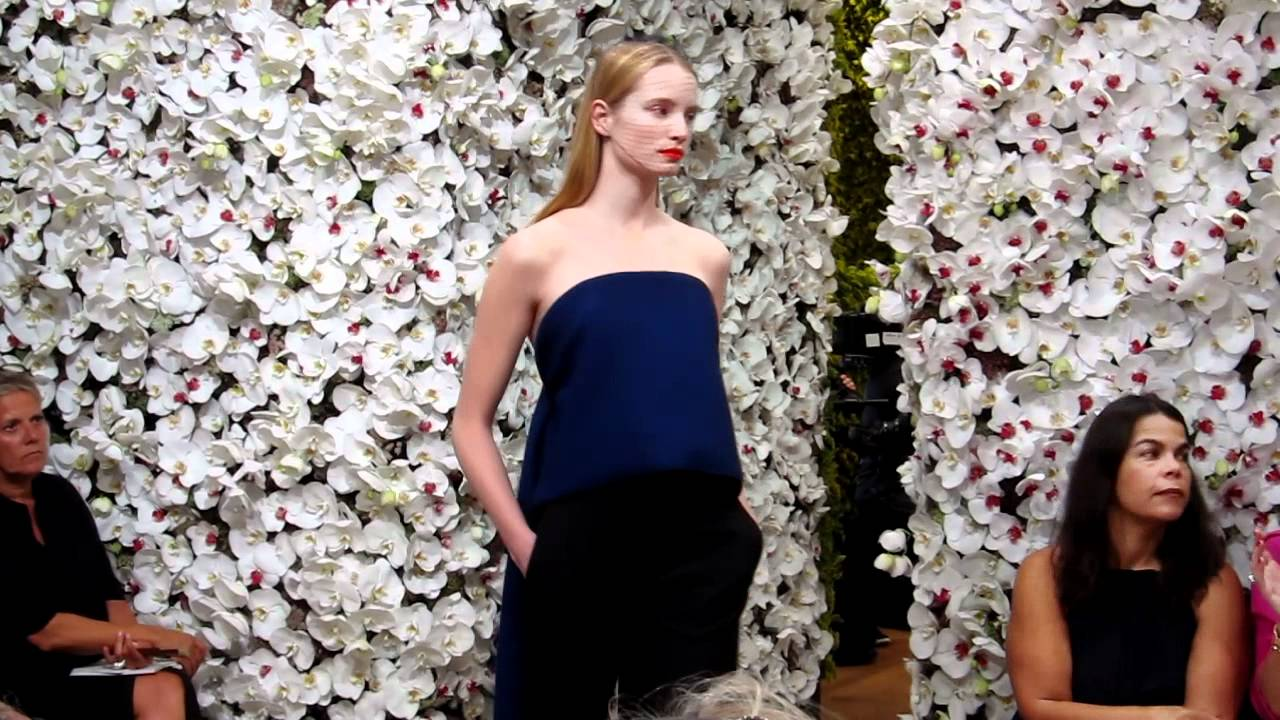 Christian Dior Flower Fashion Show
