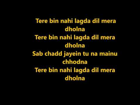 SIMMBA: Tere Bin Nahi Lagda Karaoke with lyrics | Ranveer singh, Sara Ali Khan |