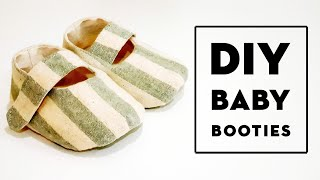 Diy Baby Booties | Free Pattern & Tutorial | 这款婴儿鞋男女都适合喔#HandyMum ❤❤