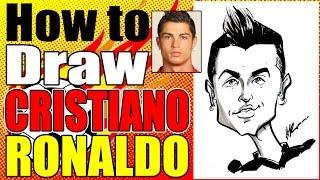 How To Draw A Quick Caricature Cristiano Ronaldo