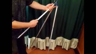 Подставка фидерная тренога для рыбалки телескопическая