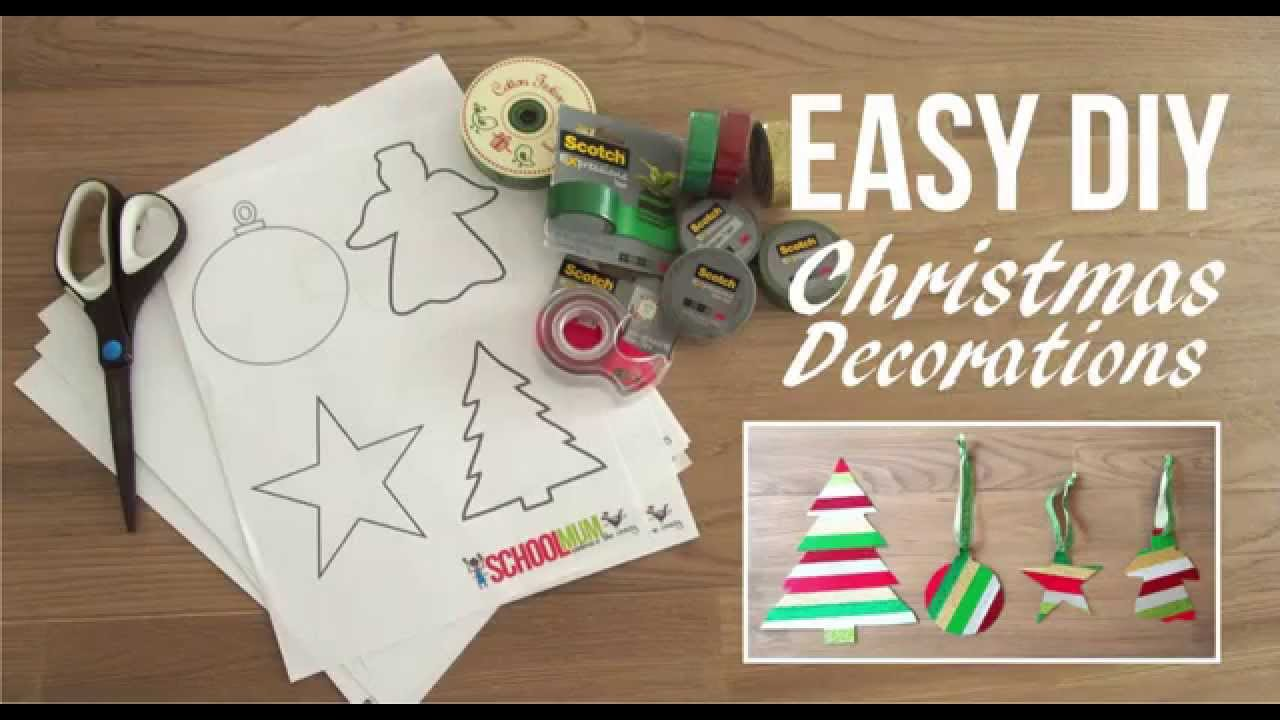 Make your own christmas decorations youtube Make your own christmas bunting