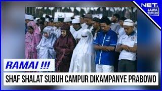 RAMAI !!! Shaf Shalat Subuh Kampanye Prabowo Di GBK  - NET. JATIM