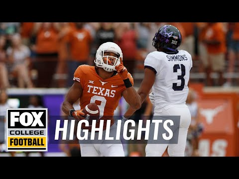 Texas vs. TCU | FOX COLLEGE FOOTBALL HIGHLIGHTS