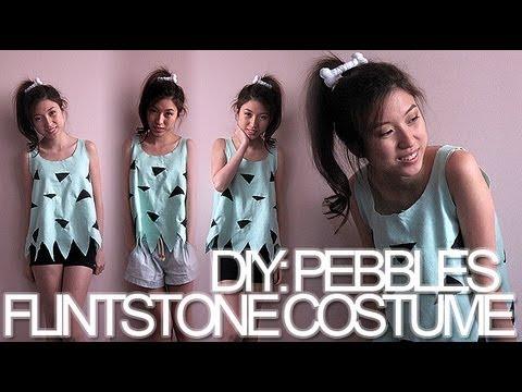diy pebbles flintstone halloween costume - Flinstones Halloween