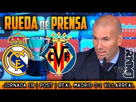 Rueda de prensa de Zidane Real Madrid 0-1 Villarreal