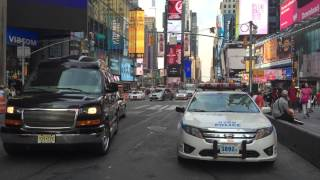 North Shore Lij Lenox Hill Hospital Ems Ambulance Responding 7th Avenue In Times Square, Manhattan.
