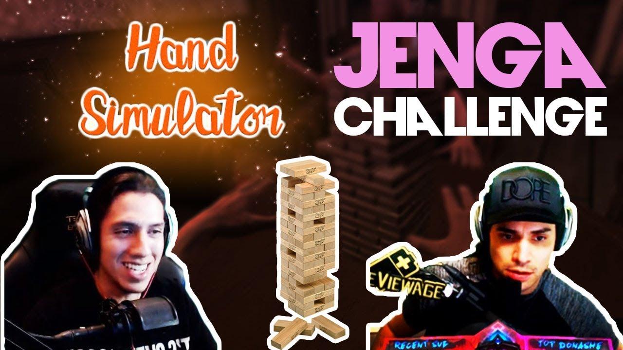 cdnthe3rd and grimmmz hand simulator jenga funny youtube