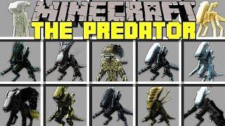 Minecraft PREADTOR MOD l NOOB vs PRO ALIENS in MINECRAFT! l Modded Mini-Game