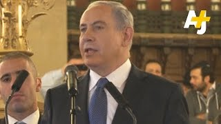 Netanyahu Welcomes French Jews To Israel During Paris Rally