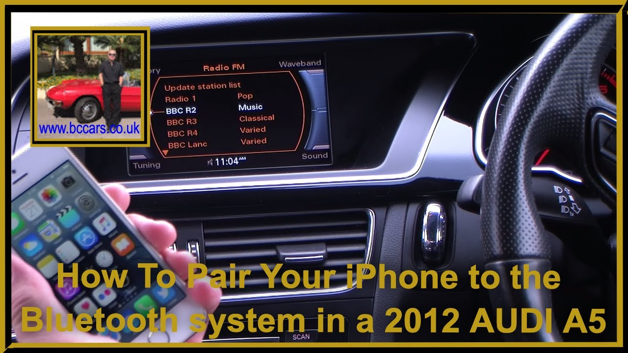 How To Pair Your iPhone to the Bluetooth system in a 2012 62 AUDI A5 2 0  TDI 177 Quattro Black Editi