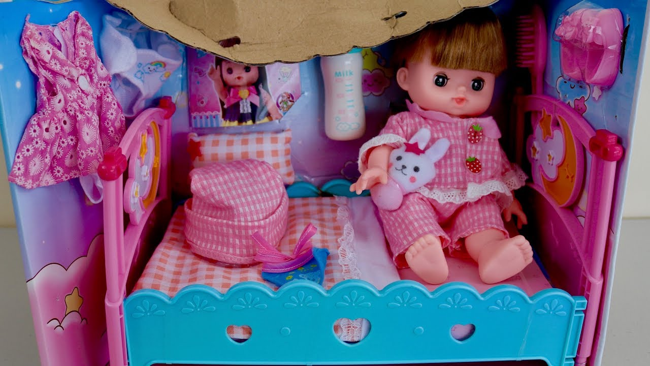 Toy Baby Doll Center : Baby doll dolls bed nursery set annabell bedroom