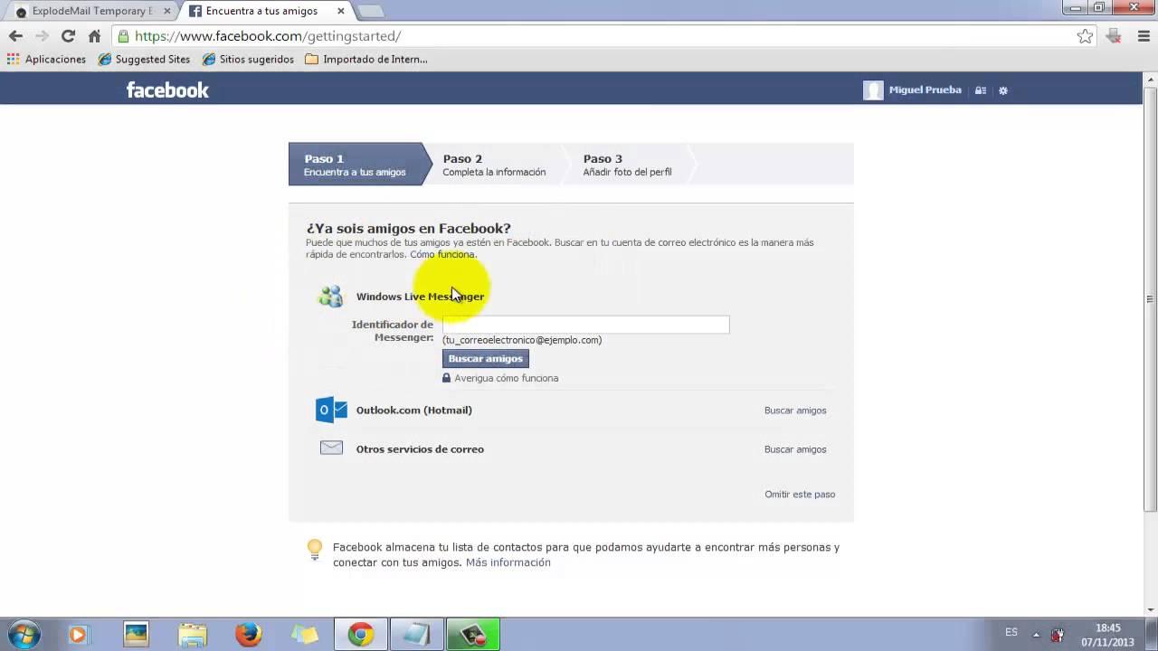 Como registrarse en facebook sin tener correo electr nico - Como poner una mosquitera ...