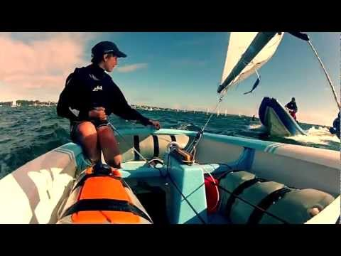 Go Pro optimist Sailing