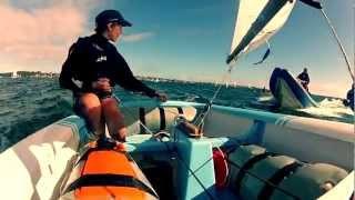 Go Pro optimist Sailing