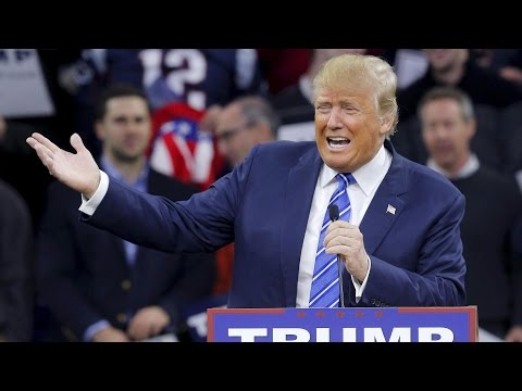 Donald Trump holds rally Burlington, Vt.