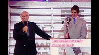 Amitabh Bachchan getting Lifetime Award from Yash Chopra and Javed Akhtar