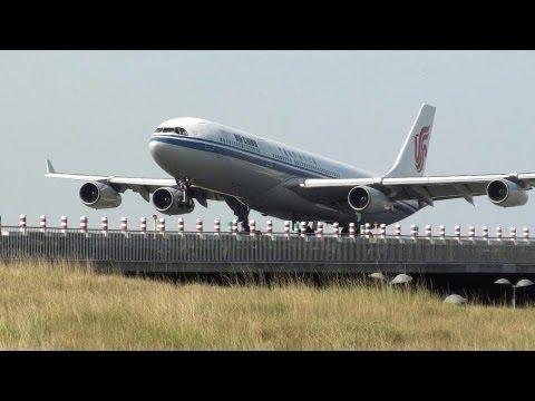 Air China A340-300 landing 09L at Paris Roissy [CDG/LFPG)