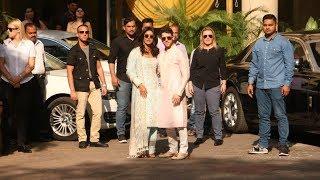 Priyanka Chopra- Nick Jonas Pose Outside Home Before Leaving For Marriage