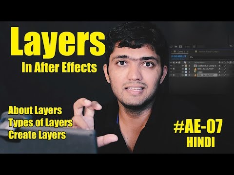#Ae-07 Layers In After Effects- Layer types, Create, Use [HINDI]