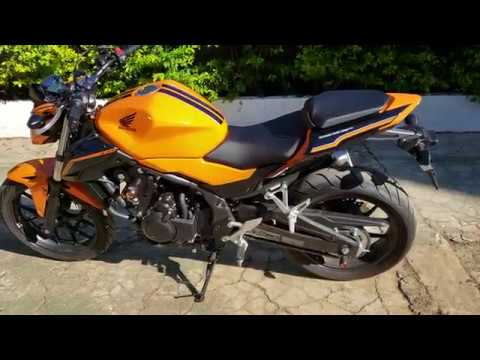 honda cb500f 2018 modelo 2019 laranja com slaider e. Black Bedroom Furniture Sets. Home Design Ideas