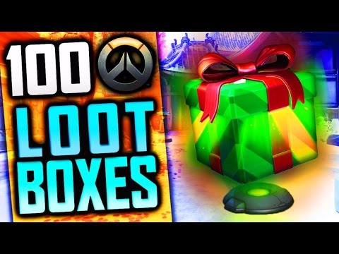 OVERWATCH 100 CHRISTMAS LOOT BOX OPENING