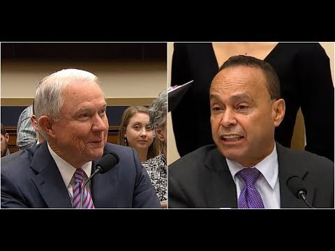 Download Youtube: Attorney General Jeff Sessions DESTROYS LEFTIST Rep.Gutierrez on the CLINTON Investigation