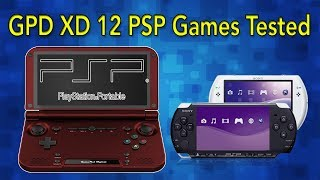 GPD XD 12 PSP Games Tested