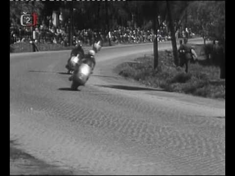 Motocycle grand prix in Brno 1957