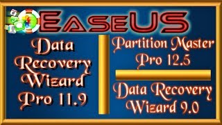 Step by step download EaseUS: Partition Master 12.5 | Recovery Wizard Pro 11.9 | Recovery Wizard 9.0