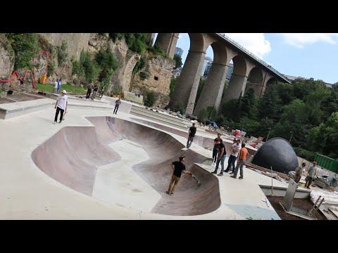 Luxembourg-Ville a enfin vu naître son skatepark