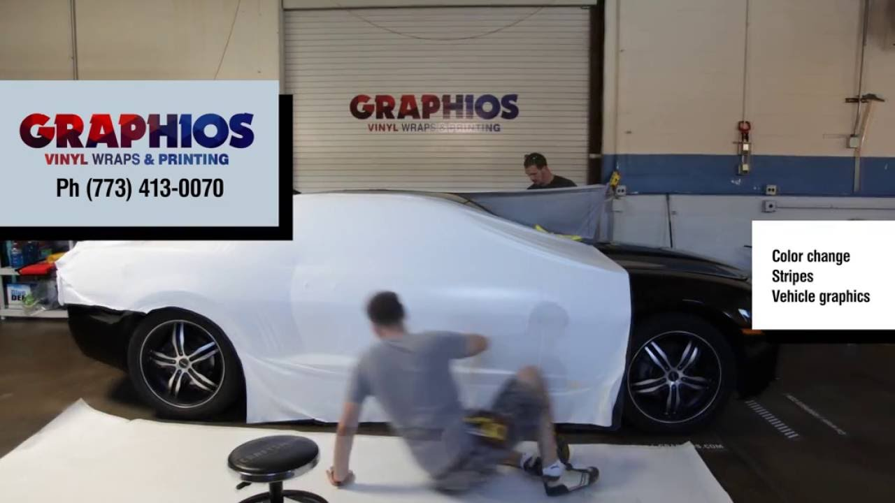 Car Wraps Chicago - Black Matte Car Wrap, Vehicle Graphics