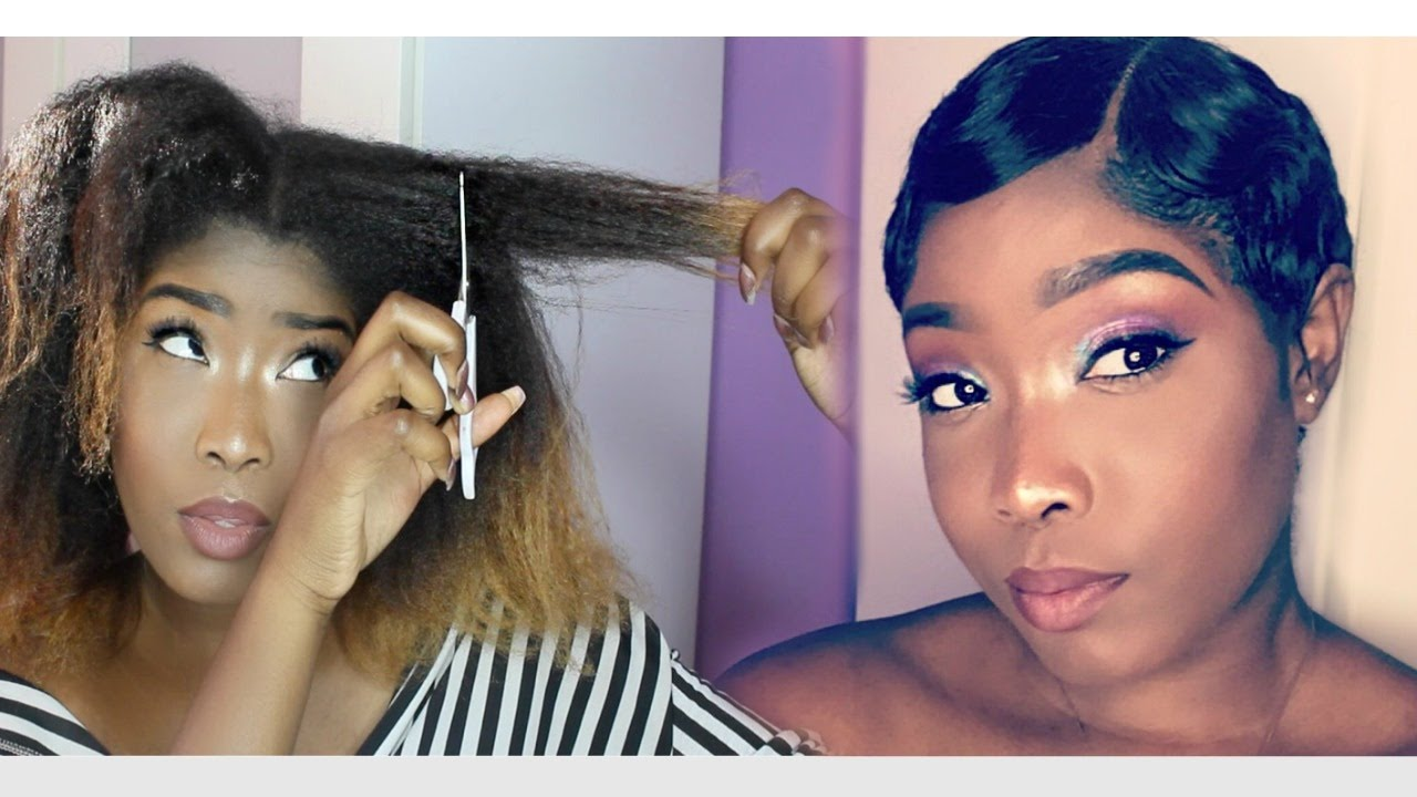 Finger Wave Hair Styles: Did I Really Big Chop My Natural Hair Into A TWA For