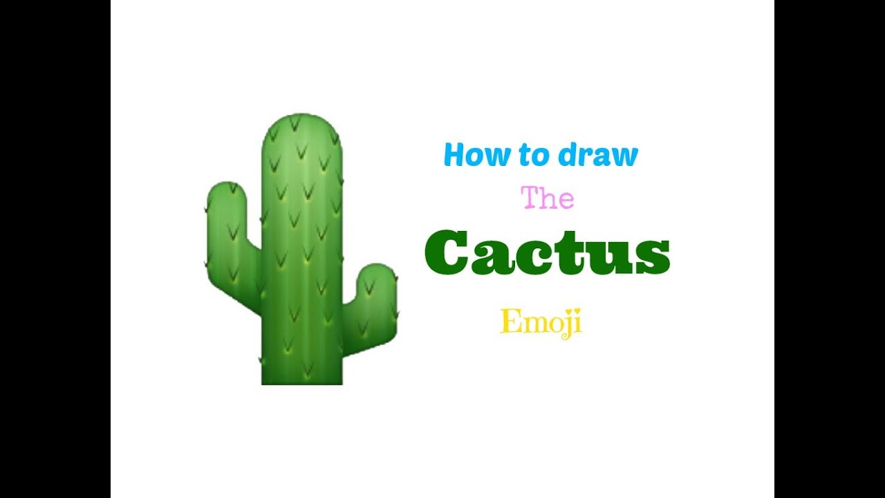 how to draw the cactus emoji youtube. Black Bedroom Furniture Sets. Home Design Ideas