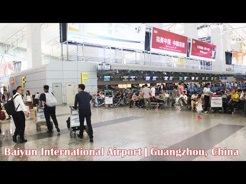 Inside Baiyun International Airport in Guangzhou, China