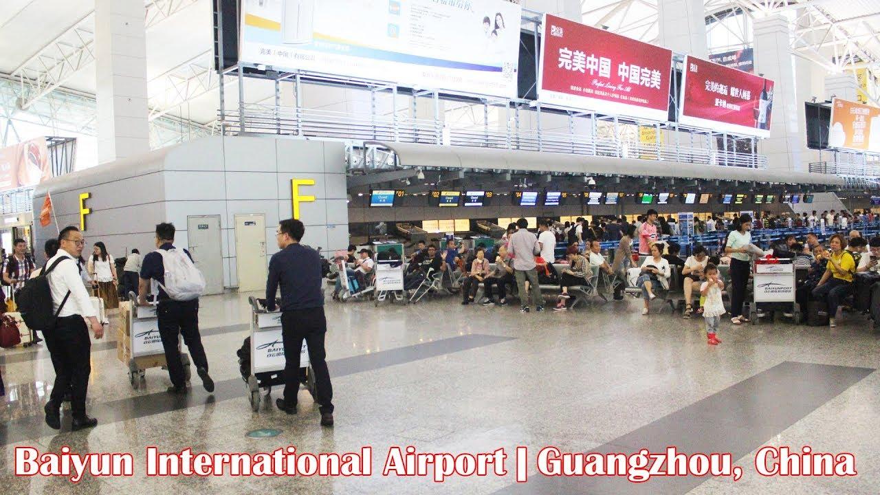 Aeroporto Guangzhou Arrive : Inside baiyun international airport in guangzhou china youtube