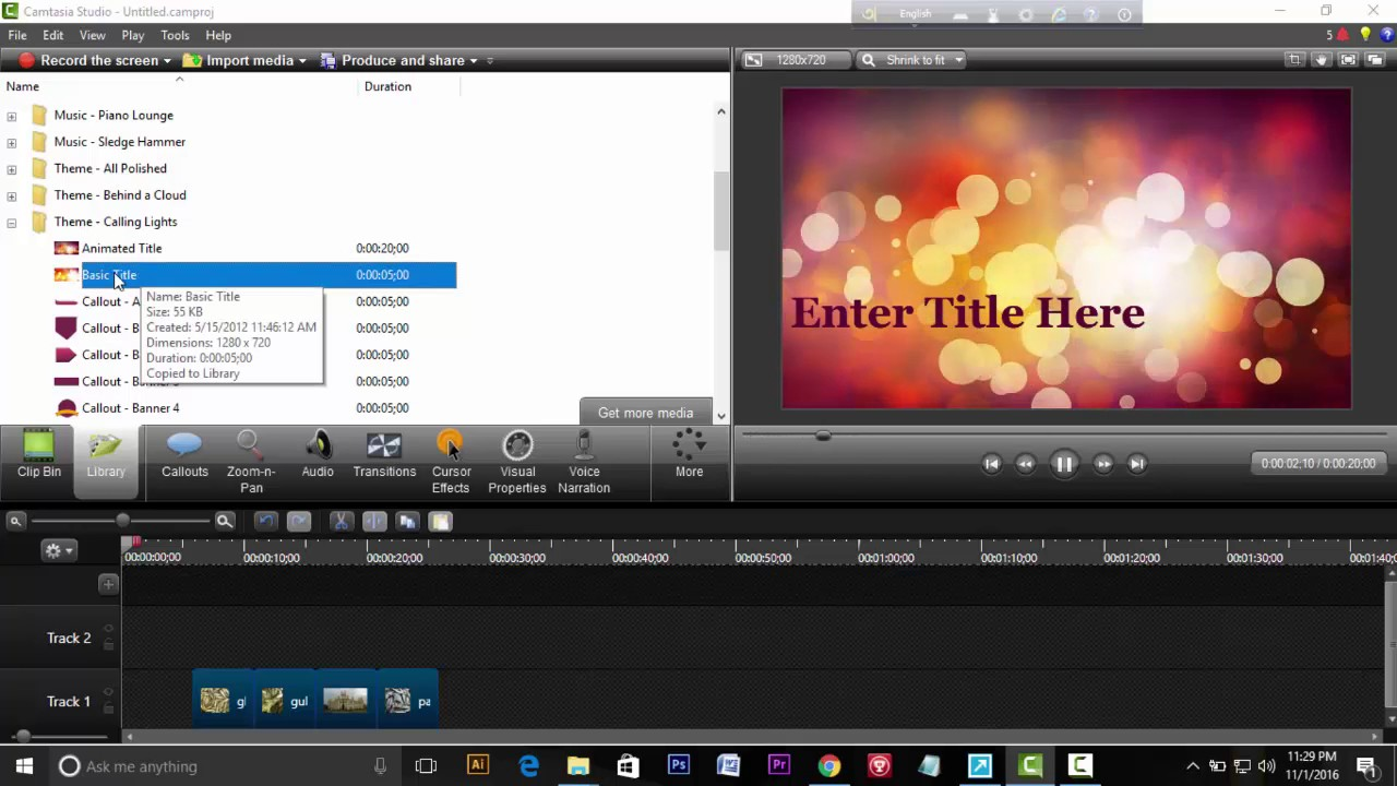 Watch How to Make a Video Using Camtasia video
